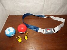 Pokemon Trainer clip n carry belt figure toy poke ball Pikachu playset cosplay