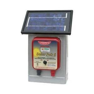 Parmak Electric Fence Charger, 25-Mile, Solar-Pak, 6-Volt Battery