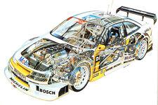 OPEL CALIBRA DTM RACE CAR CUTAWAY POSTER PRINT 24x36