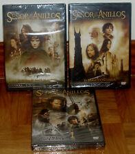 LA TRILOGIA EL SEÑOR DE LOS ANILLOS 6 DVD NUEVO PRECINTADO ACCION (SIN ABRIR) R2