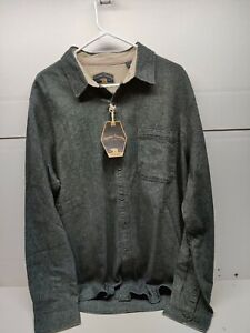 Freedom Foundry Dry Goods charcoal gray Button Up Shirt XLT NWT