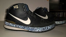 Nike Zoom Lebron VI 6 Grafiti black&blue sz12 USED NEEDS REPAIR SEE PICS