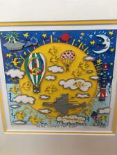 James Rizzy Here Comes The Sun 3D Silk Screen Collectible Authentic Art 1995 F/S