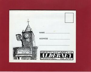 5 View Letter Sketch Card of Alderney Channel Islands D Manby 1968 unused AK854