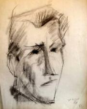 FRANCOIS CHAPUIS 1928-2002 Abstract Cubist PICASSO Influenced Portrait 1969