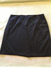 New York And Company Size 18 black Cotton Blend Stretch Pencil Skirt rear zip