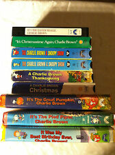 9 VHS LOT-Charlie Brown Peanuts-Thanksgiving, Christmas, Easter, Great Pumpkin
