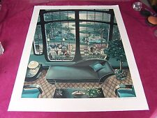 """VF-Michael Young's 1987 LE(#185)ART DECO print, """"THE PLEASURE OF YOUR COMPANY!"""""""
