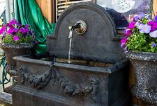 GRC Garden Patio Water Feature Rialto Large Trough Rectangle Tap Fountain Black