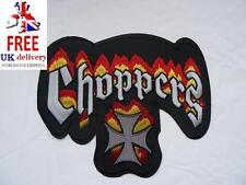 Choppers Maltese Cross Medium Iron-on/sew-on Embroidered Patch Motorcycle Biker