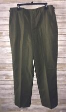 American M-1951 Military Field Shell Trousers Olive Green - EUC SIZE MEDIUM