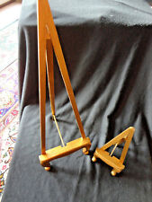 """Vtg Display Gilded Easels (2) Old Store Stock 20"""" And 9-1/4"""" Never Used"""
