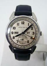 Vintage BROCK & CO Mens Triple Calendar Winding Watch by MOVADO 1940s* SERVICED