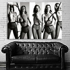 #29 Poster Mural Kate Moss Erotic Model 35x52 inch (89x132 cm) on Canvas