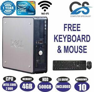 Windows 10 Dell OptiPlex 780 Computer Desktop PC Intel Core 2 Duo E8400 3.00GHz