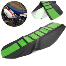 Universal Gripper Soft Motorcycle Seat Cover Rib Skin Rubber Dirt Bike Green