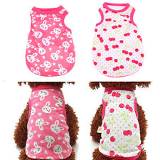 Small Pet Dog Puppy Cotton Vest Floral T-Shirt Spring Summer Thin Coat Apparel