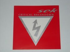 SEK Critical Breakdown CD EP AUSSIE HIP HOP Electronica 1999