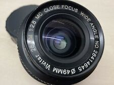 Pentax K Mount Vivitar 28mm F2.8 MC Wide Angle Manual Focus Lens