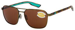 Costa Del Mar Wader Sunglasses 6S4003-1258 Antique Gold   Copper Polarized 580P