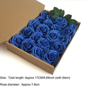 20PCS Artificial Foam Roses Real Touch Fake Rose Flowers Wedding Party Decor