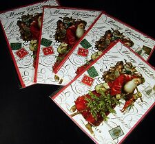 Punch studio christmas greeting cards and invitations ebay pooch sweetheart christmas cards envelopes vintage santa 4 pieces punch studio m4hsunfo