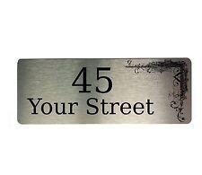 Custom Personalised Metal Aluminium Sign Door Plaque Number House Office Name