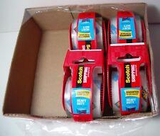 4 PACK (1.88'' x 22.2 yd/ea) Scotch Shipping Heavy Duty Packaging Tape