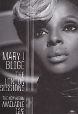 MARY J BLIGE POSTCARD 2014 Official Promo THE LONDON SESSIONS New MINT Original