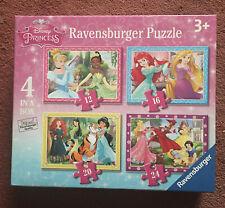Disney Princess Ravensburger Puzzle Age 3+ Four Jigsaws In Box
