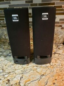JBL Platinum Series Computer Speakers 2 🔊  👌 Wired HP Model SP08A11 W/ ADAPTER