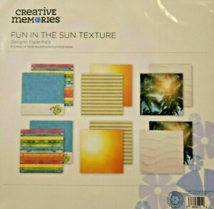 Creative Memories Fun in the Sun Paper Pack (6 pack) Limited Edition Promo ~ NEW