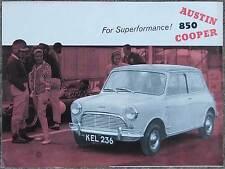 Austin 850 Mini Cooper 1961-2  brochure