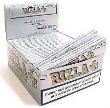 10 BOOKLETS RIZLA SILVER KING SIZE SLIM ROLLING PAPERS CHEAPEST ON EBAY