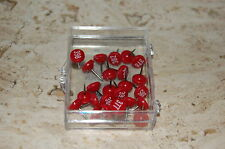 """Moore Numbered Maptacks 1/4"""" Lrg. Flathead #1202 Red w/ white numbers 251-500"""