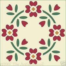 FLOWER CIRCLE STENCIL-BOTANICAL- The Artful Stencil
