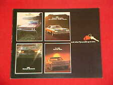 1969 ORIGINAL PLYMOUTH BARRACUDA ROAD RUNNER SATELLITE GTX HEMI BROCHURE 69 CUDA