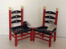 NABCO  ABEARICANA stars and stripes forever ladder back CHAIR sold individually