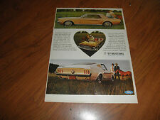 "FORD MUSTANG AD-""Bred First...To Be First""-Original Magazine Print"