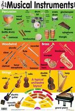 Musical Instruments Educational Music Poster (0042)