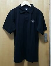 T-shirt Polo Men VW Emblem Embroidered Size: S  Color: Black Designed by Dickies