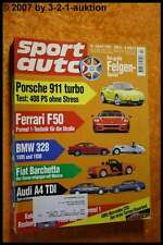Sport Auto 4/95 Porsche 911 Turbo Ferrari F50 AMG C36