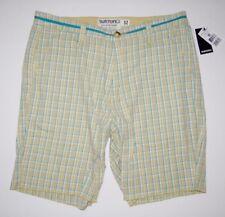 "New Burton Mens VCC Casual Cotton Plaid 21"" Walk Shorts Size 32"