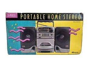 Memorex 3-Piece Portable Home Stereo Cassette AM-FM Radio 7991MTTGB New Open Box