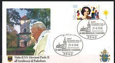 1996-Fdc 1°Jour**Vatican-Pape J.P.II-Visite à Paderborn-Mission-Yv.DE.1666