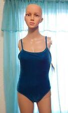 Newport News Size 6 Swimwear Velvet Green 1 Piece Vintage NOS Polyester Spandex