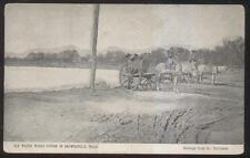 Postcard BROWNSVILLE Texas/TX  Horse Drawn Water Works Carts view 1907