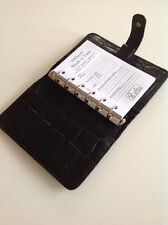 Beautiful Vintage Mulberry Pocketbook Filofax In Black Congo