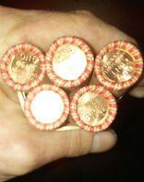1 Wheat penny roll AU/BU ends lot of pre 40s! Semi-key dates found! Buy 5 get  6