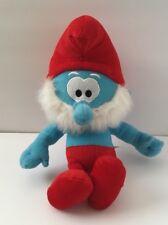 "13"" The Smurfs Papa Smurf 2010 Nanco Soft Plush Stuffed Doll Toy Red White Blue"